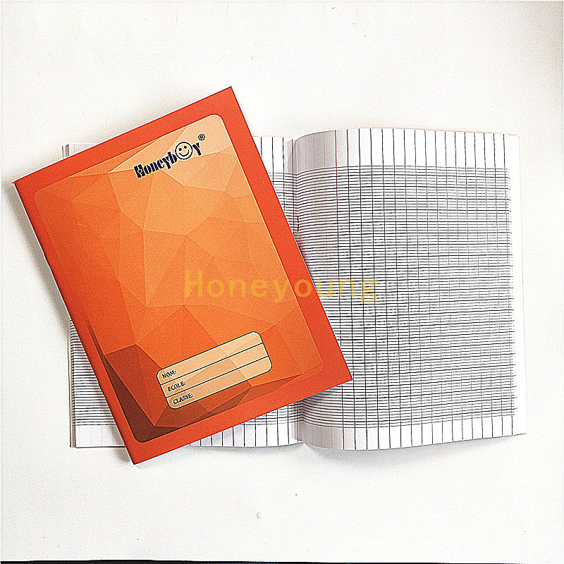Simple Design Ivory Board Cover UV Lamination French Line Bulk Exercise Book FEB-3