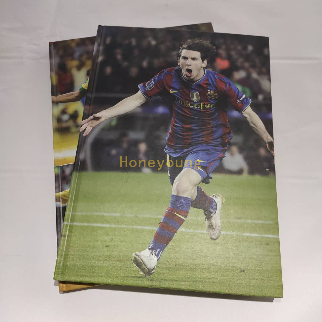 China Publisher Football Stars Fashion Design Custom Printed Hard Cover Notebook HCN-4