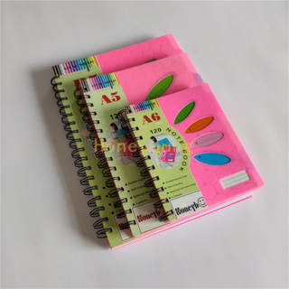 Best Quality Custom Design with LOGO Good Price PP Cover Spiral Notebook SN-34