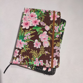 Flower Desige High Quality Woodfree Paper School&office PVC Leather Notebook PLN-03