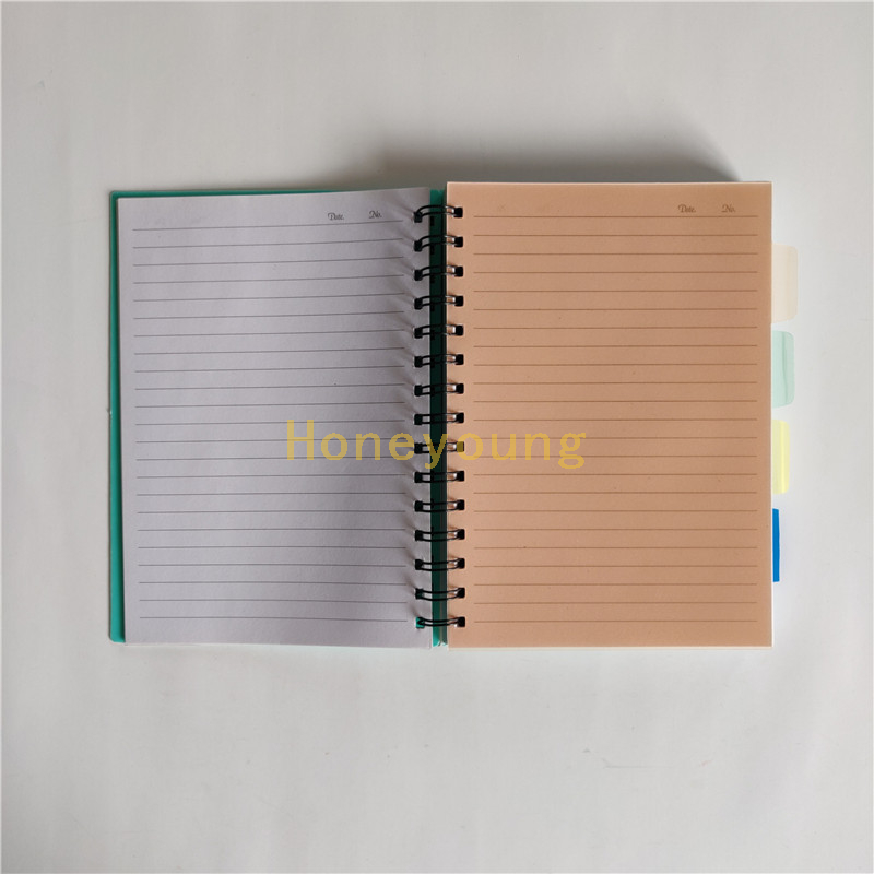 Standard Size Junior High School PP Cover Spiral Notebook with Plastic Deviders SN-33